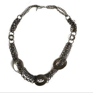 Chunky Gunmetal Chain Necklace